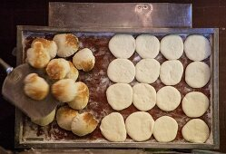 Baked and unbaked unleavened bread