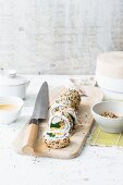 California rolls with sesame seeds