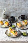 Sushi bite with prawns