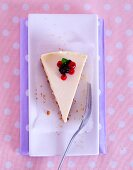 A slice of cheesecake with an amaretti base and summery berries