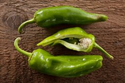 Green Chili Peppers at Market