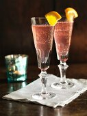 Poinsettia – Christmas cocktails made with champagne, Cointreau and cranberry juice