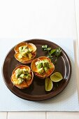 Bacon and corn tortilla quiches