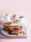 Strawberry neopolitan Ice-cream sandwiches