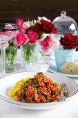 Curry with coconut rice