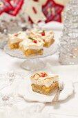 Apple meringue cake