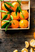 A crate of mandarins