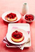 Raspberry caramel creams