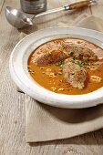 Fish soup with sardine dumplings
