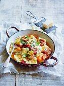 Gnocchi mit Kirschtomaten und Parmesan