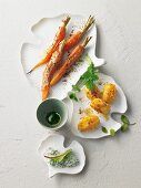 Tandoori vegetables with chard raita