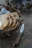 Slices of bread in a bread basket