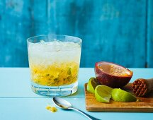 Ipanema (alsohol-free cocktail made with passion fruit and lime juice)