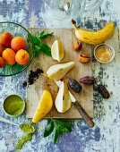 Ingredients for fruity smoothies