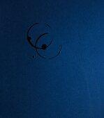 Glass prints on a dark-blue surface