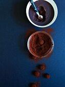 Caramel whiskey truffle pralines