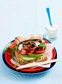 Bacon, lettuce and tomato Breakfast sandwich