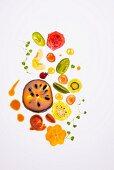 Fruity tomatoes salad