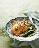 Fish fillet with Grenobloise sauce (brown butter sauce, capers and lemons)