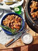 Barbecued quail