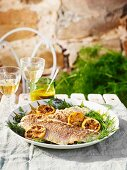 Snapper with dill and lemon