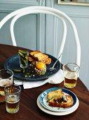 Steak tartare with toasted brioche and cornichons