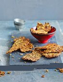 Flaxseed and curry crackers