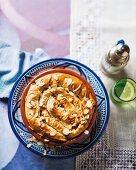 Pastilla with chicken, ras el hanout and almonds (Morocco)