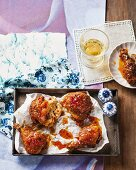 Fried chicken with chilli sauce