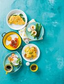 Various egg dishes