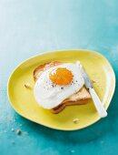 A fried egg on toast