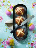 Hot cross buns and Easter eggs