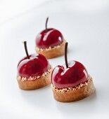 Cherry ice cream tartlets