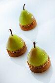 Pear ice cream tartlets