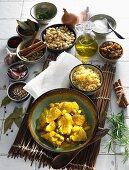Hähnchencurry mit Reis (Indien)