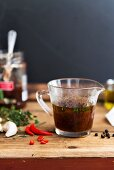 Plum marinade with chillis and garlic (sweet-sour)