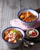 Sweet potato curry with lentils