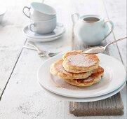 Plinsen (East German pancakes) with cinnamon sugar