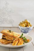 Madeira-style black scabbard fish with fried bananas