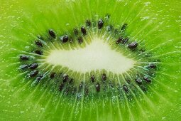 A bright green kiwi