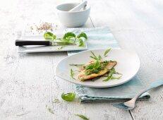 Fish fillet with basil pesto