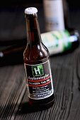 A bottle of Hopfenstopfer Incredible Pale Ale (craft beer from an artisan brewery)