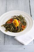 Long beans with peppers