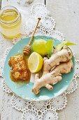 Honey, lemons and ginger