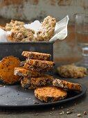Pikante Haferflocken-Käse-Cookies und Käse-Heidesand