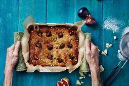 Blechkuchen mit Feigen & Pistazien
