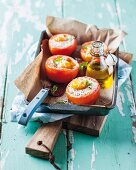 Stuffed tomatoes with egg
