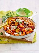 Chorizo and zuchinni gnocchi