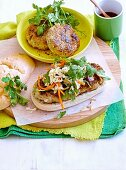 Thai green fish burgers
