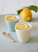 Cups of lemon cream